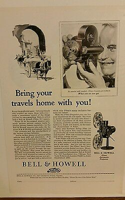 Vintage BELL & HOWELL FILM  Print Advertising Very Good Condition