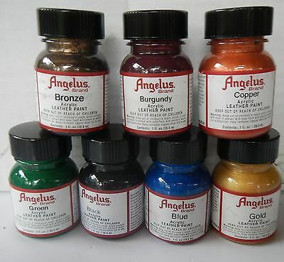 Angelus Leather Acrylic Paint 29.5ml Assorted Colours From P To Z