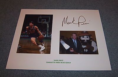 Charlotte 49ers Coach Mark Price Signed Autographed 8.5x11 Photo Cleveland Cavs