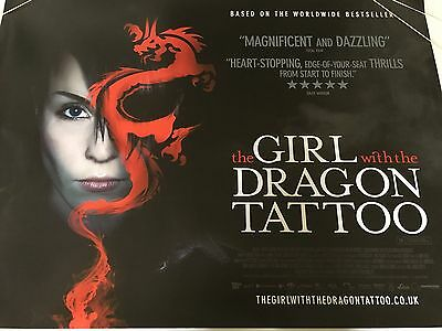 The Girl With The Dragon Tattoo Original Uk Quad Poster