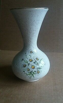 Kernewek Goonhaven Cornwall Pottery Daisy design small vase collectable