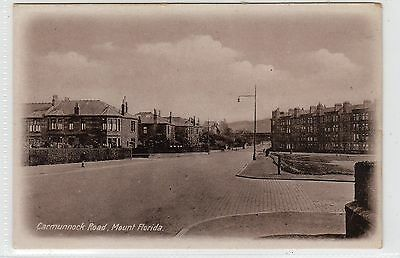 CARMUNNOCK ROAD, MOUNT FLORIDA: Glasgow postcard (C22297)