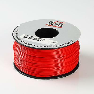 500Ft Red 22 AWG Gauge Stranded Hook Up Primary Wire Material Copper PVC