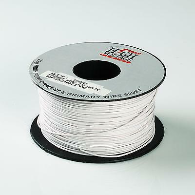500ft White 22 AWG Gauge Stranded Hook Up Primary Wire Material Copper PVC
