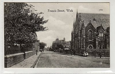 FRANCIS STREET, WICK: Caithness postcard (C22354)