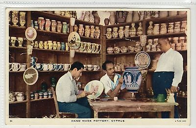 HAND MADE POTTERY: Cyprus postcard (C22701)