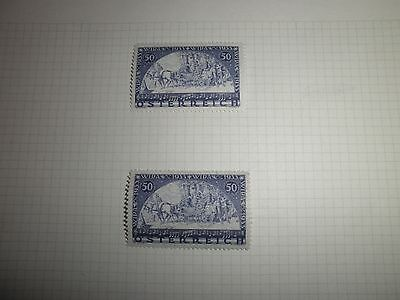AUSTRIAN WIPA STAMPS 1933 FROM OLD COLLECTION LMM x 2 Cat in 2016 SOTW £500