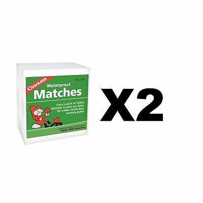 Coghlan's Waterproof Matches Wooden Fire Starters (2-Pack of 10- 40 Count Boxes)