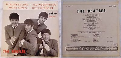 """THE BEATLES– It Won't Be Long. Spanish rare collector item. 7"""" EP."""