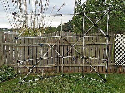 ABEX Exposure Aluminum frame 10' EXPO Trade Show Booth BACKDROP Display POP-UP