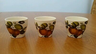 VINTAGE 1960'S 3 X MIDWINTER ORANGES AND LEMONS EGG CUPS Designed by John Russel