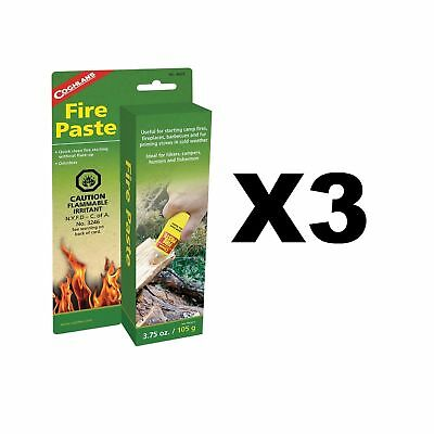 Coghlan's Fire Paste Survival Camping Fire Starters Odorless 3.75oz (3-Pack)