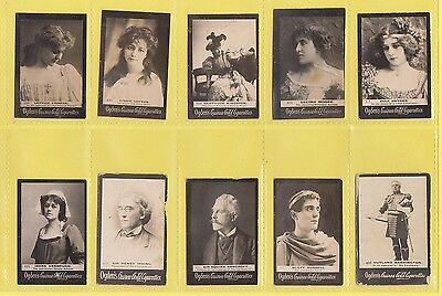 Ogdens Guinea Gold  Mixed Bases - Numbered Cards - 10 Different   (Aa)   -  1901