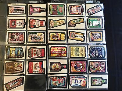 Wacky Packages Complete Series 9 Tan Back Sticker Set