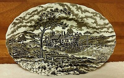 Myott Royal Mail Brown Large Oval Serving Plate