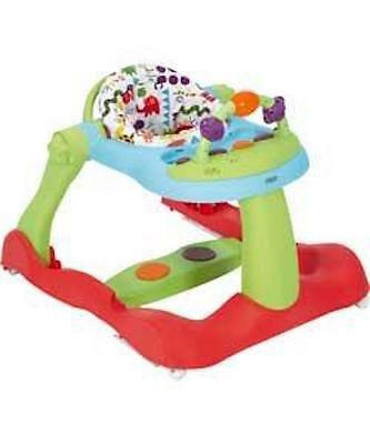 Mamas and papas roll up roll up 3 in 1 baby walker BNIB Red Base Green Legs