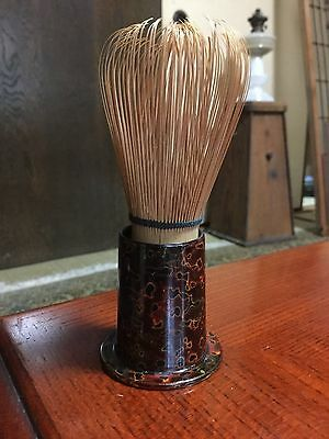 Japanese bamboo whisk (for SADO tea ceremony, stand includes) - 11.5cm