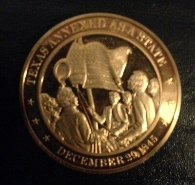 1845 - Franklin Mint History of the United States Bronze Coin