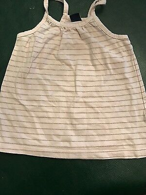 baby gap girls top with gold glitter stripes-2t