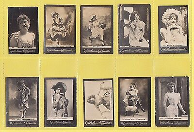Ogdens Guinea Gold  Mixed Bases - Numbered Cards - 10 Different   (Aj)   -  1901