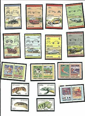 St. Lucia - Lot of 54 Stamps Years 1983 - 1984 All Uncancelled Never Hinged