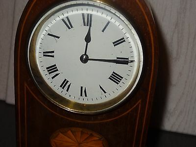 Inlaid Mantle Clock In Good Working Order