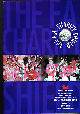 Arsenal Vs. Manchester United Programme FA Charity Shield Final 7 August 1993