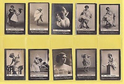 Ogdens Guinea Gold  Mixed Bases - Numbered Cards - 10 Different   (Am)   -  1901