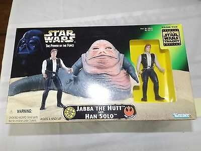 Kenner toys Star Wars Jabba the Hut and Hans Solo figures in box