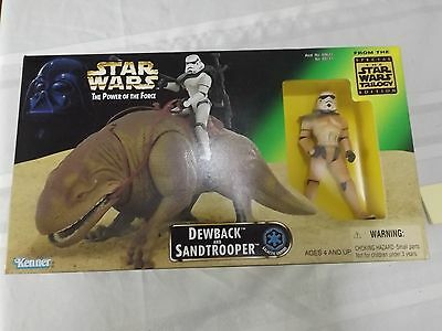 Kenner toys Star Wars Dewback and Sandtrooper figures mint in box