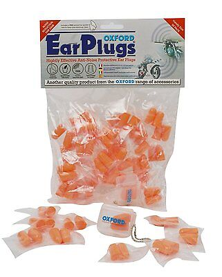 Oxford 30 Pairs Tapered Ear Plugs OF95 Motorcycle Motorbike Pack BC29987 T