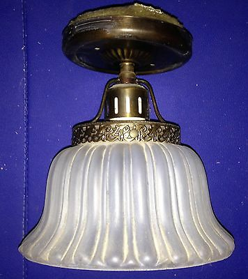 Antique Light Fixture Ceiling Mount 1920's