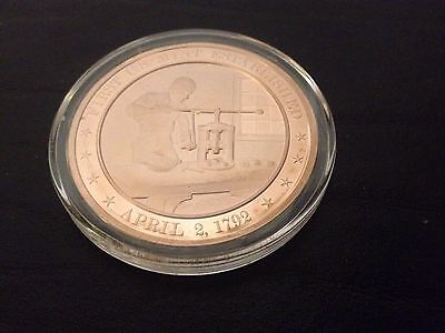 1792 - Franklin Mint History of the United States Bronze Coin