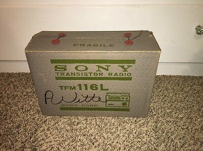 Vintage Sony Model TFM-116L transistor Very Rare!! In Box With Receipt