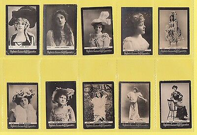 Ogdens Guinea Gold  Mixed Bases - Numbered Cards - 10 Different   (Au)   -  1901