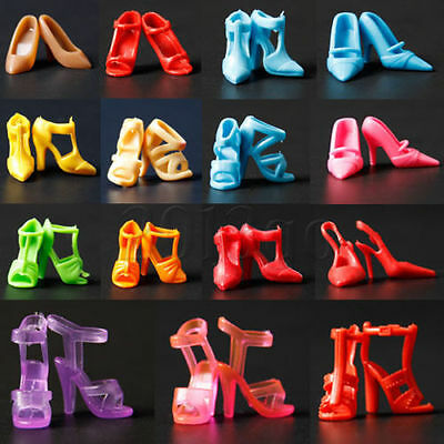 10 Pairs Lot Barbie Doll Shoes Mixed Fashion Boots For Barbie Doll High Quality