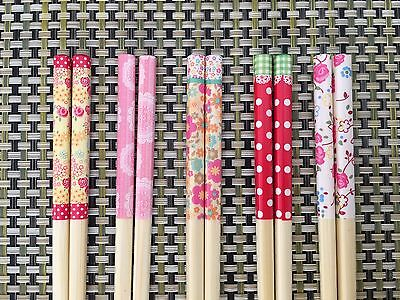 Japanese Bamboo Chopsticks Kawaii 5 Pairs Daiso Japan F/S