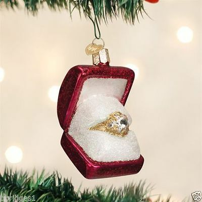 New 2016 Old World Christmas RING IN BOX  Ornament