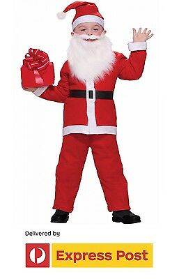 Santa Claus Kids Xmas Costume Christmas Santa Suit Fancy Dress Party
