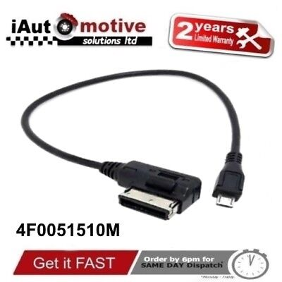 Audi + VW Micro USB AMI MMI Audio Cable Adaptor Interface Lead Samsung LG HTC