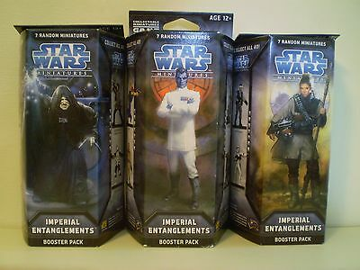 Star Wars Miniatures IMPERIAL ENTANGLEMENTS x 3 Booster Pack  NEW and SEALED