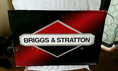 Briggs and stratton embossed metal sign