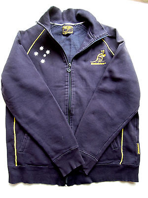 WALLABIES  Official  Licensed  Navy  FLEECY  Zip-Front  Jacket   *Size  LARGE