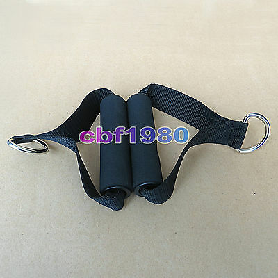 2pcs Single Stirrup Handle Foam Grip With D Ring Cable attachment fitness