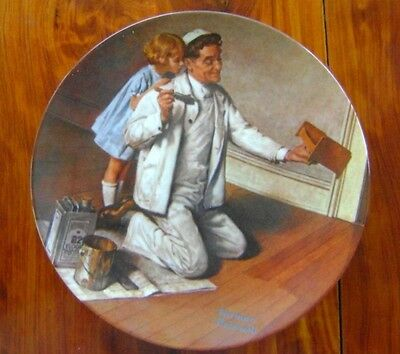 Norman Rockwell The Painter Collector Plate 9 inch