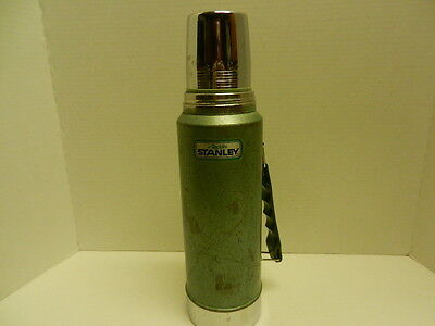 """Vintage Green Metal Thermos Aladdin Stanley Unbreakable 1 Quart 14""""  A-944DH"""