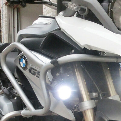 for BMW K1600 R1200GS 2x Cree LED Auxiliary Fog Light Assemblie Safety Lamp