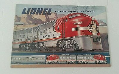 1953 Lionel Train Advance Catalog for Dealers Pictures-Price Guide As Is
