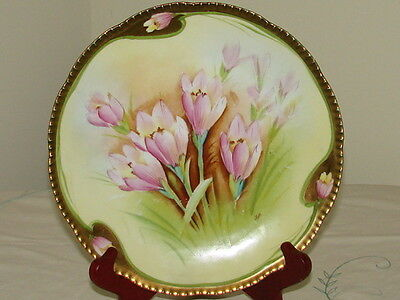 Vintage Beautiful Royal Rudolstadt Prussia Plate... Hand Painted And Signed.