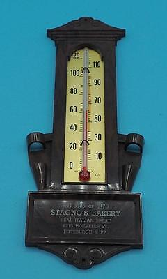 Vintage Stagnos Bakery Pittsburgh Pennsylvania Wall Thermometer Advertising